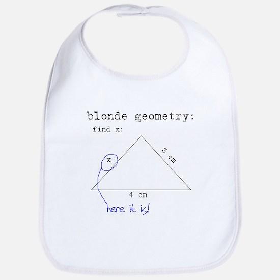 Blonde Geometry Bib