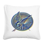 Silver Mockingjay Square Canvas Pillow