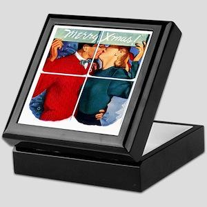 Vintage Xmas Kiss Keepsake Box