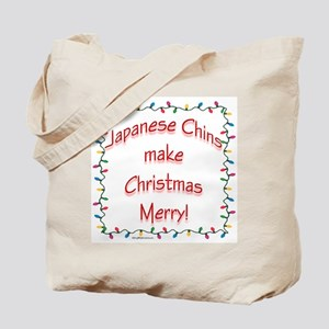Merry Japanese Chin Tote Bag