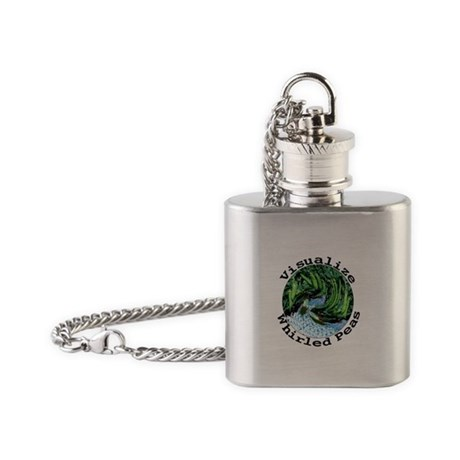 Visualize Whirled Peas Flask Necklace