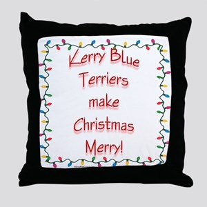 Merry Kerry Blue Throw Pillow