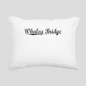 Whaley Bridge, Aged, Rectangular Canvas Pillow