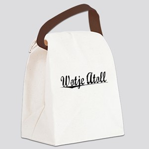 Wotje Atoll, Aged, Canvas Lunch Bag
