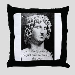 Be Warned - Virgil Throw Pillow