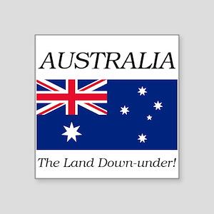 """Australian Flag Square Sticker 3"""" x 3"""""""