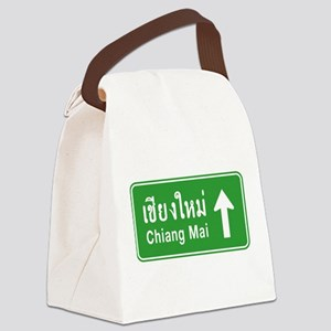 Chiang Mai Thailand Traffic Sign Canvas Lunch Bag