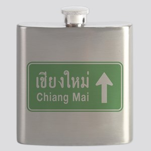 Chiang Mai Thailand Traffic Sign Flask