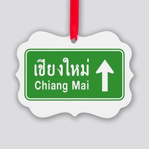 Chiang Mai Thailand Traffic Sign Picture Ornament