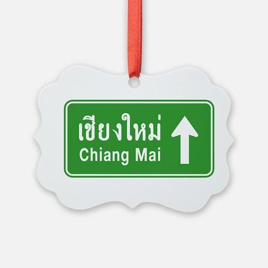 Chiang Mai Thailand Traffic Sign Ornament