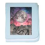 Moon Over Mountain Lake baby blanket