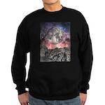Moon Over Mountain Lake Sweatshirt (dark)