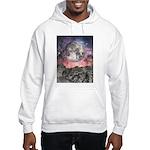 Moon Over Mountain Lake Hooded Sweatshirt