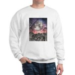 Moon Over Mountain Lake Sweatshirt