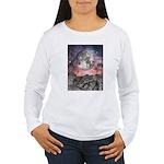 Moon Over Mountain Lake Women's Long Sleeve T-Shir