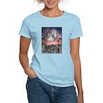 Moon Over Mountain Lake Women's Light T-Shirt