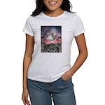 Moon Over Mountain Lake Women's T-Shirt