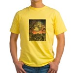 Moon Over Mountain Lake Yellow T-Shirt