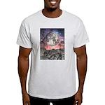 Moon Over Mountain Lake Light T-Shirt