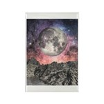Moon Over Mountain Lake Rectangle Magnet (100 pack