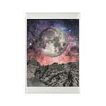 Moon Over Mountain Lake Rectangle Magnet