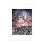 Moon Over Mountain Lake Sticker (Rectangle 50 pk)