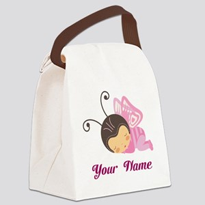 Personalized Butterfly Canvas Lunch Bag