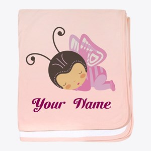Personalized Baby Butterfly baby blanket
