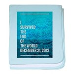 I Survived The End of The World baby blanket
