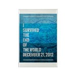 I Survived The End of The World Rectangle Magnet (