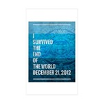 I Survived The End of The World Sticker (Rectangle