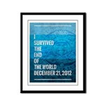 I Survived The End of The World Framed Panel Print