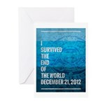 I Survived The End of The World Greeting Cards (Pk