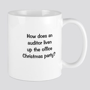 Auditing Funny Office Christmas Joke Mug