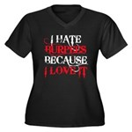I hate Burpees Women's Plus Size V-Neck Dark T-Shi