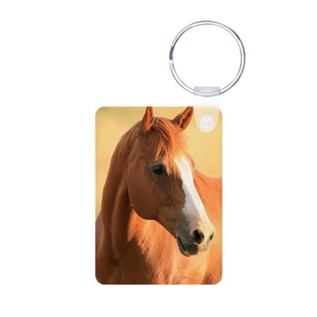 Horse portrait Aluminum Photo Keychain