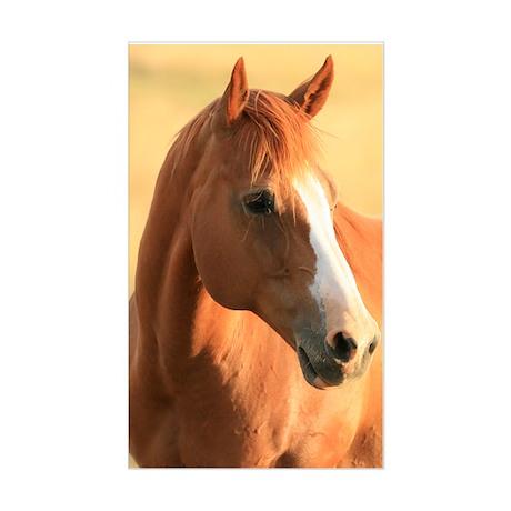 Horse portrait Sticker (Rectangle)