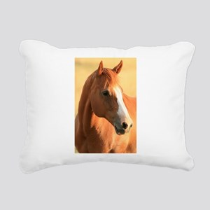 Horse portrait Rectangular Canvas Pillow