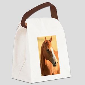 Horse portrait Canvas Lunch Bag