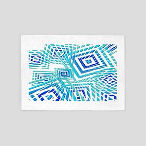 Atomic Blue Prizm 5'x7'Area Rug