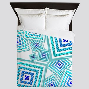 Atomic Blue Prizm Queen Duvet