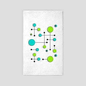 Lime & Teal Dot Dash 3'x5' Area Rug