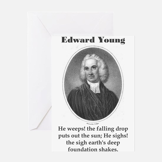 He Weeps - Edward Young Greeting Card