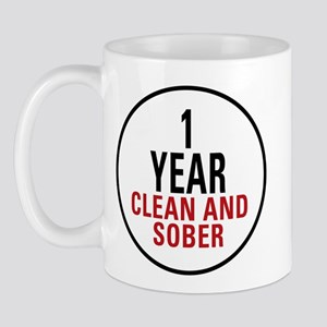 1 Year Clean & Sober Mug