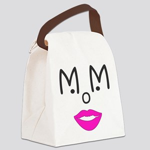 Mom-blue Canvas Lunch Bag