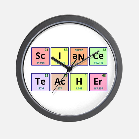 Science Teacher Wall Clock