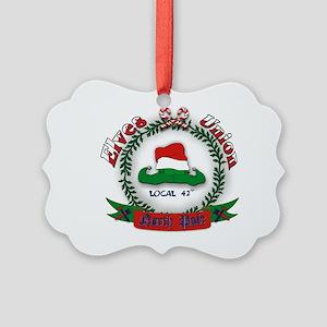 Elves Union Christmas Picture Ornament