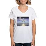 Rocket Launch Women's V-Neck T-Shirt