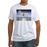 Rocket Launch Fitted T-Shirt