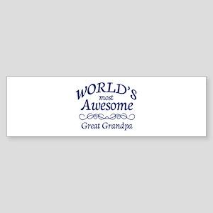 Great Grandpa Sticker (Bumper)